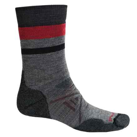 SmartWool PhD Outdoor Medium Pattern Socks - Merino Wool, Crew (For Men) in Medium Gray - 2nds