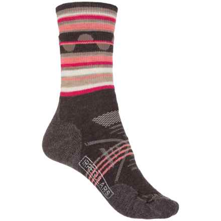 SmartWool PhD Outdoor Medium Pattern Socks - Merino Wool, Crew (For Women) in Chestnut - 2nds