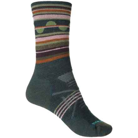 SmartWool PhD Outdoor Medium Pattern Socks - Merino Wool, Crew (For Women) in Lochness - 2nds