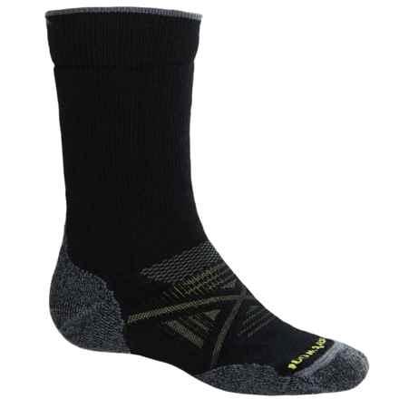 SmartWool PhD Outdoor Medium Socks - Merino Wool, Crew (For Men) in Black - 2nds