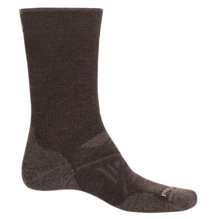 SmartWool PhD Outdoor Medium Socks - Merino Wool, Crew (For Men) in Chestnut - 2nds