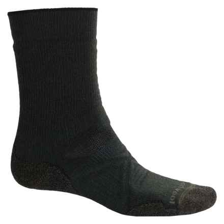 SmartWool PhD Outdoor Medium Socks - Merino Wool, Crew (For Men) in Forest - 2nds