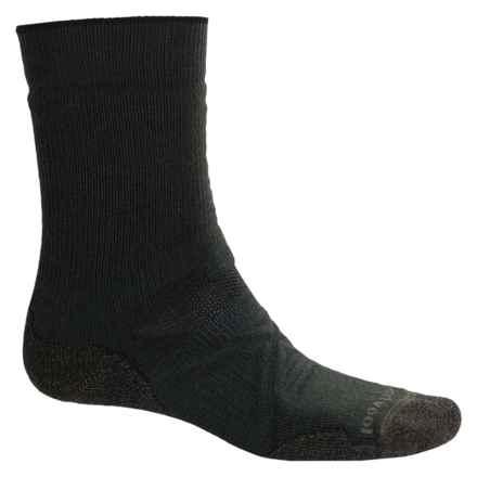 SmartWool PhD Outdoor Medium Socks - Merino Wool, Crew (For Men) in Forest - 2nds