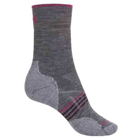 SmartWool PhD Outdoor Medium Socks - Merino Wool, Crew (For Women) in Medium Gray - 2nds