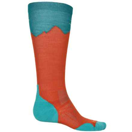 SmartWool PhD Outdoor Mountaineer Socks - Merino Wool, Over the Calf (For Men and Women) in Bright Orange - 2nds