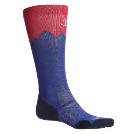 SmartWool PhD Outdoor Mountaineer Socks - Merino Wool, Over the Calf (For Men and Women) in Dark Blue - Closeouts