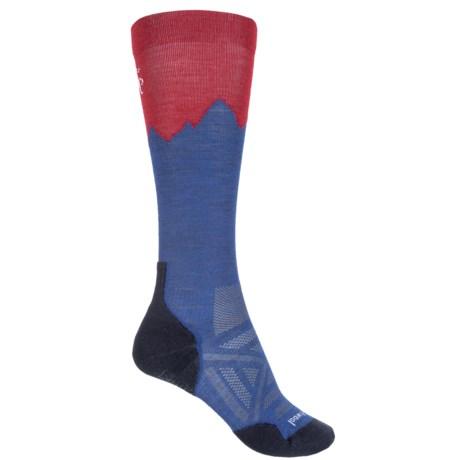 SmartWool PhD Outdoor Mountaineer Socks - Merino Wool, Over the Calf (For Men and Women) in Dark Blue