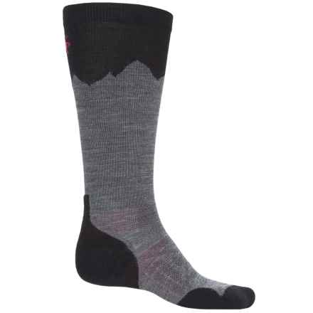 SmartWool PhD Outdoor Mountaineer Socks - Merino Wool, Over the Calf (For Men and Women) in Medium Gray - 2nds