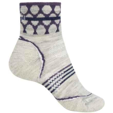 Smartwool PhD Outdoor Pattern Mini Socks - Merino Wool, Ankle (For Women) in Ash Heather - 2nds