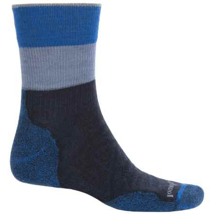 SmartWool PhD Outdoor Pattern Socks - Merino Wool, 3/4 Crew (For Men and Women) in Deep Navy - 2nds