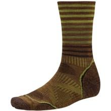 SmartWool PhD Outdoor Pattern Socks - Merino Wool, Crew (For Men and Women) in Caramel - Closeouts