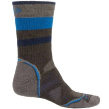 SmartWool PhD Outdoor Pattern Socks - Merino Wool, Crew (For Men and Women) in Chestnut - Closeouts