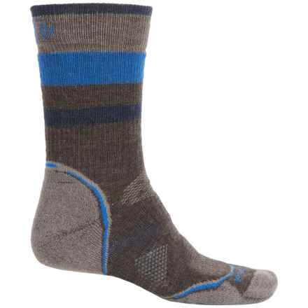 SmartWool PhD Outdoor Pattern Socks - Merino Wool, Crew (For Men and Women) in Chestnut - 2nds