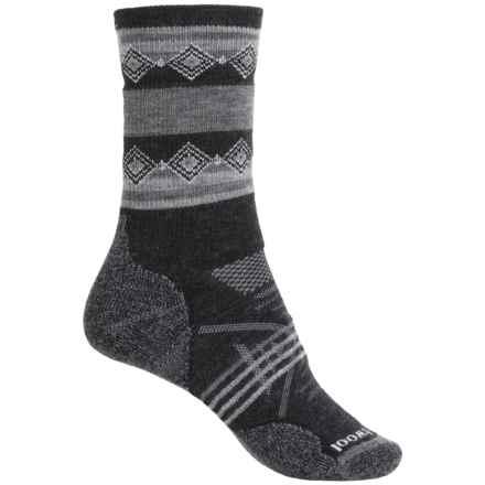SmartWool PhD Outdoor Pattern Socks - Merino Wool, Crew (For Women) in Charcoal - 2nds