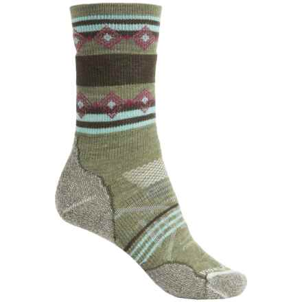 SmartWool PhD Outdoor Pattern Socks - Merino Wool, Crew (For Women) in Light Loden - 2nds