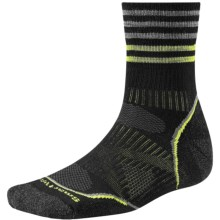 SmartWool PhD Outdoor Pattern Socks - Merino Wool, Quarter Crew (For Men and Women) in Black - Closeouts