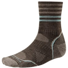 SmartWool PhD Outdoor Pattern Socks - Merino Wool, Quarter Crew (For Men and Women) in Chestnut - 2nds