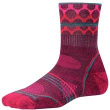 SmartWool PhD Outdoor Pattern Socks - Merino Wool, Quarter Crew (For Women) in Aubergine - 2nds