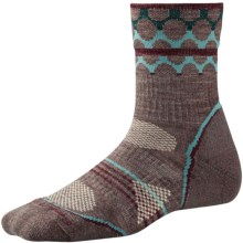 SmartWool PhD Outdoor Pattern Socks - Merino Wool, Quarter Crew (For Women) in Taupe - 2nds