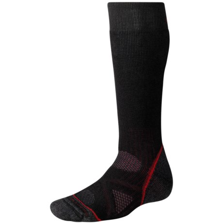 SmartWool PhD Outdoor Socks - Merino Wool, Heavyweight, Over-the-Calf (For Men and Women) in Black