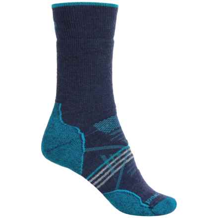 SmartWool PhD Outdoor Socks - Merino Wool, Quarter Crew (For Women) in Ink - 2nds