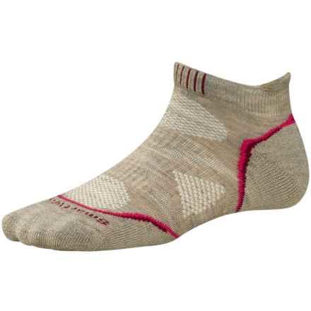 SmartWool PhD Outdoor Sport Socks - Merino Wool, Ankle (For Women) in Oatmeal - Closeouts