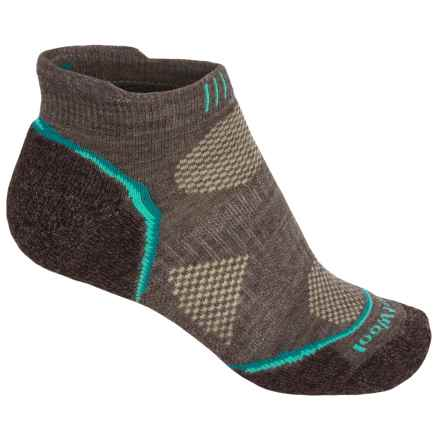 SmartWool PhD Outdoor Sport Socks - Merino Wool, Ankle (For Women) in Taupe/Dark Spearmint - Closeouts