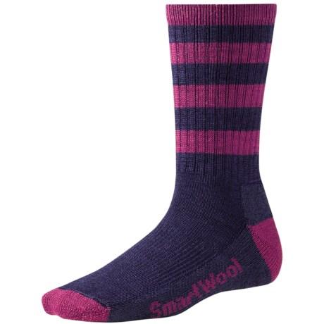 SmartWool PhD Outdoor Striped Light Socks - Merino Wool (For Women) in Nectarine/Sprearmint