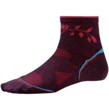 SmartWool PhD Outdoor Ultra Light Pattern Mini Socks - Merino Wool Blend (For Women) in Aubergine - 2nds