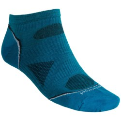 SmartWool PhD Outdoor Ultralight Micro Socks - Merino Wool, Below-the-Ankle (For Men and Women) in Arctic Blue