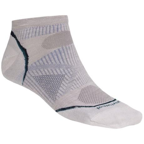 SmartWool PhD Outdoor Ultralight Micro Socks - Merino Wool, Below-the-Ankle (For Men and Women) in Ash