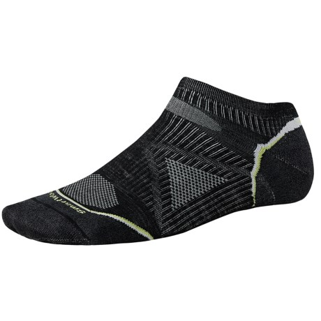 SmartWool PhD Outdoor Ultralight Micro Socks - Merino Wool, Below-the-Ankle (For Men and Women) in Black