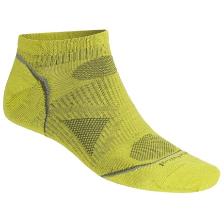 SmartWool PhD Outdoor Ultralight Micro Socks - Merino Wool, Below-the-Ankle (For Men and Women) in Glow Green