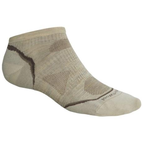 SmartWool PhD Outdoor Ultralight Micro Socks - Merino Wool, Below-the-Ankle (For Men and Women) in Oatmeal