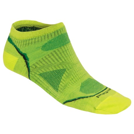 SmartWool PhD Outdoor Ultralight Micro Socks - Merino Wool, Below-the-Ankle (For Men and Women) in Smartwool Green
