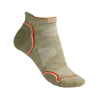 SmartWool PhD Outdoor Ultralight Micro Socks - Merino Wool (For Women) in Oatmeal/Orange
