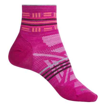 SmartWool PhD Outdoor Ultralight Pattern Socks - Merino Wool, Ankle (For Women) in Berry - Closeouts