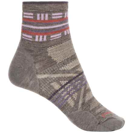 SmartWool PhD Outdoor Ultralight Pattern Socks - Merino Wool, Ankle (For Women) in Taupe - Closeouts