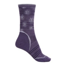 SmartWool PhD Outdoor Ultralight Pattern Socks - Merino Wool, Crew (For Women) in Desert Purple - Closeouts