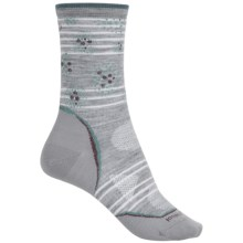 SmartWool PhD Outdoor Ultralight Pattern Socks - Merino Wool, Crew (For Women) in Light Gray/Canton - Closeouts