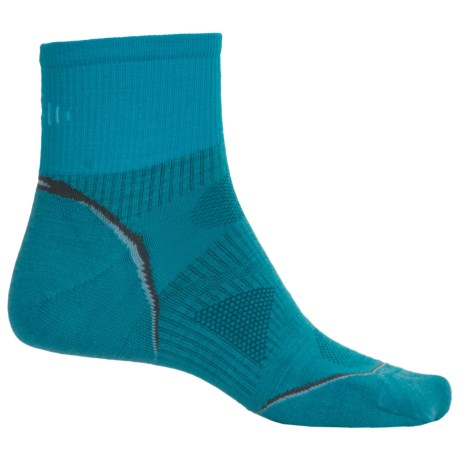 SmartWool PhD Outdoor Ultralight Socks -Merino Wool, Ankle (For Men and Women) in Horizon Blue
