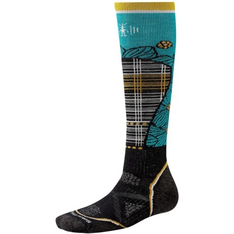 SmartWool PhD Pattern Ski Socks - Merino Wool, Over the Calf (For Women)