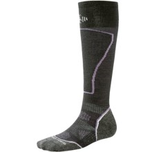 SmartWool PhD Pattern Ski Socks - Merino Wool, Over the Calf (For Women) in Black - Closeouts