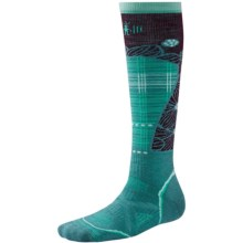 SmartWool PhD Pattern Ski Socks - Merino Wool, Over the Calf (For Women) in Canton - Closeouts