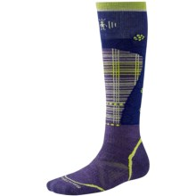 SmartWool PhD Pattern Ski Socks - Merino Wool, Over the Calf (For Women) in Ink - Closeouts