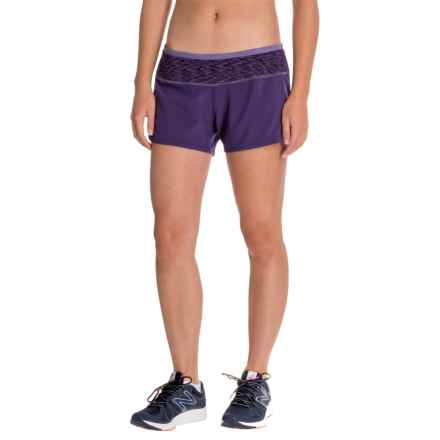 SmartWool PhD Patterned Run Shorts - Built-In Brief (For Women) in Mountain Purple - Closeouts