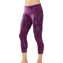 SmartWool PhD Printed Capri Leggings (For Women) in Berry - Closeouts