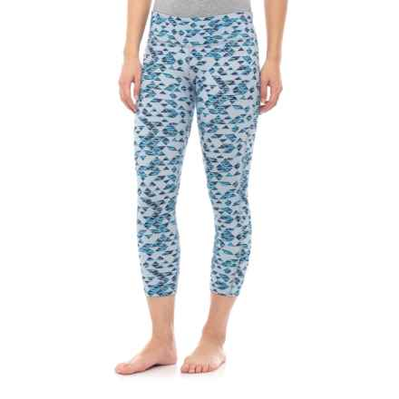 SmartWool PhD Printed Capris - Merino Wool (For Women) in Blue Ice - Closeouts