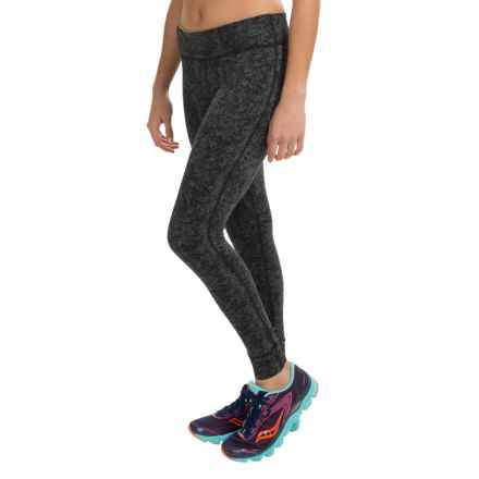 SmartWool PhD Printed Mid-Rise Tights - Merino Wool Blend (For Women) in Charcoal/Black - Closeouts