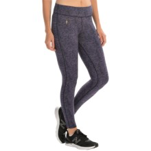 SmartWool PhD Printed Mid-Rise Tights - Merino Wool Blend (For Women) in Desert Purple/Ink - Closeouts